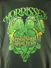 Morrissey Irish Blood English Heart Green Sz. Lg T-Shirt 100% Cotton Mozz Smiths