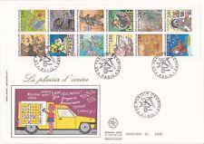 Enveloppe grand format 1er jour 1993 Le plaisir d'écrire La Poste