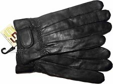 Women's Leather Gloves (XL) Black warm Winter Gloves casual ladies leather Glove