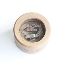 Wood Wedding Ring Box Glass Ring Holder Custom Proposal Ring Box Ring Bearer Box
