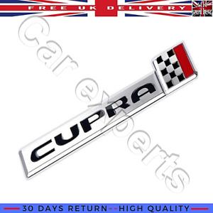 Seat Cupra Emblem Badge Decal Car 3D Metal Racing Flag Sticker Leon Ibiza Ateca