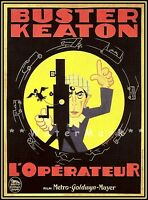 Buster Keaton 1928 The Cameraman French Film Movie Vintage Poster Classic Print