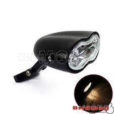 Custom Billet Black Dual Headlight Wave Halogen Fit Harley Motorcycle Universal
