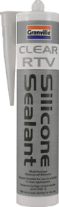 Clear RTV Silicone Adhesive Sealant Waterproof Gasket Flexible High Temp 310ml