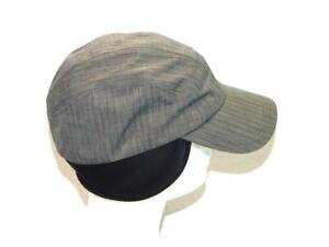 Sunday Afternoons M Gray Sun Hat With Black Fold Down Ear Flaps UPF Cap Womens M