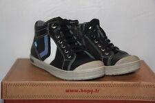 BOPY - Basket Hautes Vertige Cuir - Bleu - T 28 neuf
