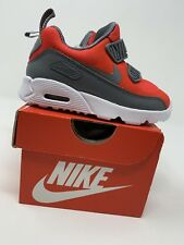 BABY BOYS: Nike Air Max Tiny 90 Shoes, Red & Gray - Size 6C 881924-601