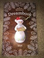Hallmark Keepsake 2016 Ornament Collection Dreambook Catalog 87 Pages New Unused
