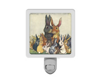 Cute Easter Family Portrait Bunny Rabbits Adorable Animal Spring Night Light