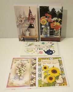 New Lot of Greeting Cards Get Well...With Sympathy Tea Time... With Envelopes
