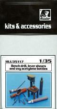 Hauler Models 1/35 BENCH DRILL LEVER SHEARS & OXY ACETYLENE BOTTLES Resin Set