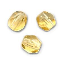 20 Perles Facettes cristal boheme 6mm  LIGHT TOPAZ