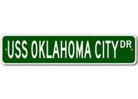 USS OKLAHOMA CITY CG 5 Ship Navy Sailor Metal Street Sign - Aluminum