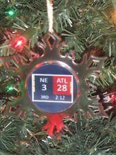 NE Patriots Super Bowl 28-3 Scoreboard Personalized Snowflake Ornament