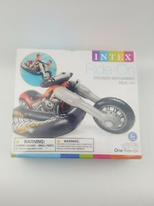 Intex Cruiser Motorcycle ~ Inflatable Ride-On Pool Float Toy ~ BRAND NEW IN BOX