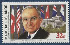 Marshall Islands 1995 World War 2 WW II Scott 517 Truman UN Charter W96 NH