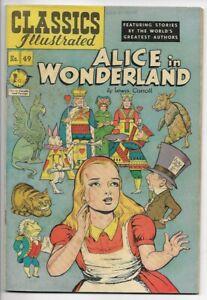 1949 Classics Illustrated #49 Alice in Wonderland Fine 6.0