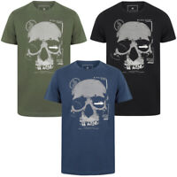 Dissident Mens Skull Crew Neck T-Shirt Graphic Print Top Sportswear Size S - XXL