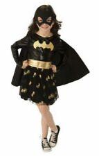 Dc Batgirl Black Gold Glitter Costume Dress Rubie's Girls Size M 8-10 New!