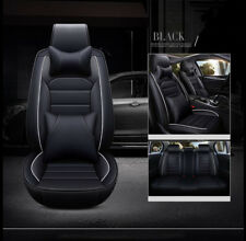 Luxury Deluxe Car Seats Cover Universal w/Front&Rear Cushion+Pillows 5-Sit Black