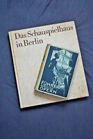 ::DAS SCHAUSPIELHAUS IN BERLIN UND FÜHRER DURCH DIE OPERN 1984/1917 BERLIN ANTIK