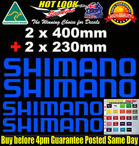 SHIMANO Decals 4 PACK stickers for boat fishing tackle box fridge car Trailer
