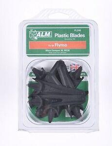 10 Plastic lawnmowers Blades /  FLYMO MICROCOMPACT - MC30  FLY015, 5127557-90/7