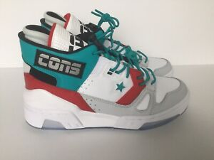 New Converse ERX 260 Mid Top White/Turbo Green/Enamel Red 265218C Kids Size 6