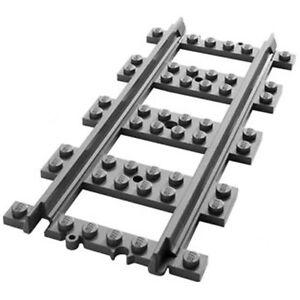 Lego 8x Genuine City Train Straight Track Rail Railway Town - 53401 6037688 NEW