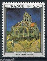 TABLEAU, ART, FRANCE 1979, timbre 2054, VAN GOGH, EGLISE AUVERS-SUR-OISE, neuf**