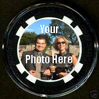 Any Custom Picture or Photo LUCKY POKER CHIP CARD GUARD