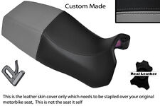 BLACK & GREY CUSTOM FITS DUCATI PASO 750 906 907 IE DUAL REAL LEATHER SEAT COVER