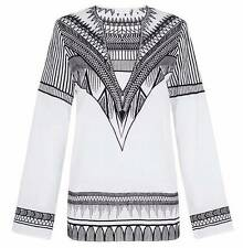 """New SASS & BIDE """"Space Shuttling""""  Embroidered Tunic Kaftan Top  Size 14  $420"""