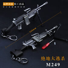 1/6 1:6 Jouet pubg M249 Saw machine gun Battlefield 4 champ de bataille FULL METAL 7 in (environ 17.78 cm)