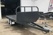 10X6 TANDEM AXLE BASIC FLAT TOP/FLATBED/TABLE TOP TRAILER |HEADBOARD |NEW WHEELS