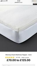 5cm memory foam mattress topper With Cover New