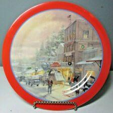 "Euc Maud Borup Thomas Kinkade ""A Winter's Walk"" Collector Plate ~ 9"""
