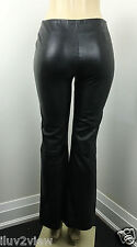 Ralph Lauren  Black Leather Mid Rise Lined Women Pant Size 4