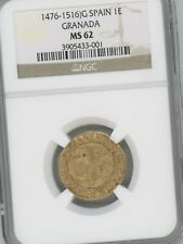 1476-1516 GOLD COIN,  SPAIN, 1 Excelente, GRANADA,  GRADED MS62 BY NGC,  Fr-135