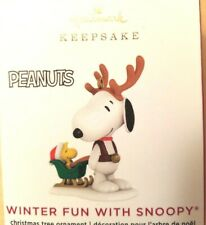 New ListingHallmark 2020 Winter Fun With Snoopy Peanuts Gang Miniature Ornament