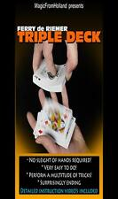 Triple Bicycle Red Deck Of Playing Cards - Magic Tricks Gaff Gimmick Svengali