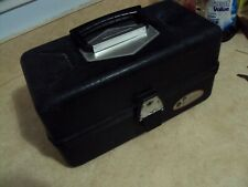 Vintage 4 Tray Tackle Box 63415 Ted Williams Sears and Roebuck 1960s -70s Black