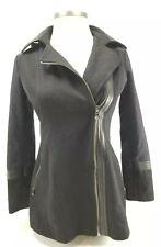 Guess Los Angeles Black Wool Blend Ladies Peacoat Style Coat Sz Medium