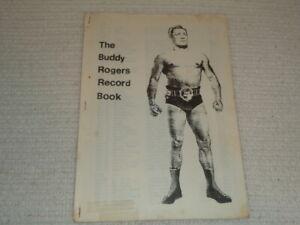 Vintage Buddy Rogers Record Book Nature Boy Wrestling History NWA WWWF