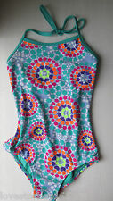3b7638a2f7 Xhilaration Girls Multi Color Dots One Piece Swimsuit XS 4 5 NWT