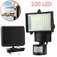 Waterproof 100 SMD LED Solar Power Motion Sensor Wall Light Outdoor Garden Lamp