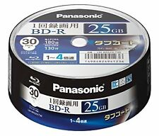 30 Panasonic Blu-ray 25GB 4x blank BD-R Free Shipping with Tracking# New Japan