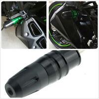 1Pcs Black CNC Frame Exhaust Slider Crash Pad Protector For Kawasaki Yamaha