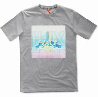 H4X Mens T-Shirt Heather Gray Size XL 80s Retro Wave Nari Graphic Tee $30 074
