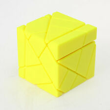 Ghost Ninja 3x3x3 Irregular Magic Cube Twist Puzzle Stickerless Fancy Toy Yellow